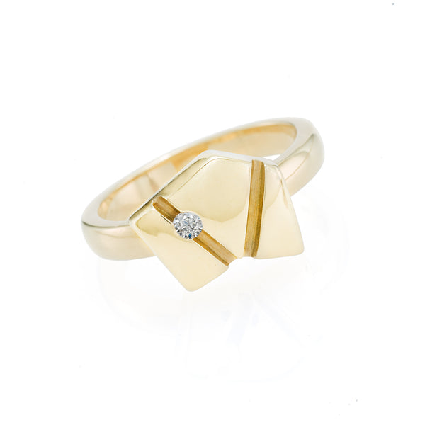 Gold Asymmetrical Ring