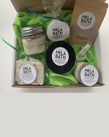 Self care box with Scented Market Candle
