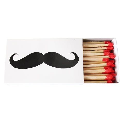 "Mustache Matches- 4.5"" Match Box"
