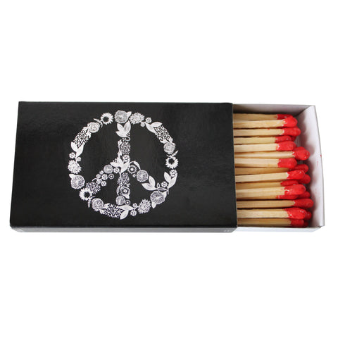 "Peace Matches- 4.5"" Match Box"
