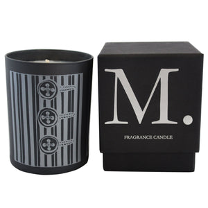 Pinstripe 14oz. Amber Leather Candle