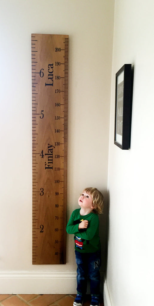 Wooden Height Ruler (Inches and feet and Cms)