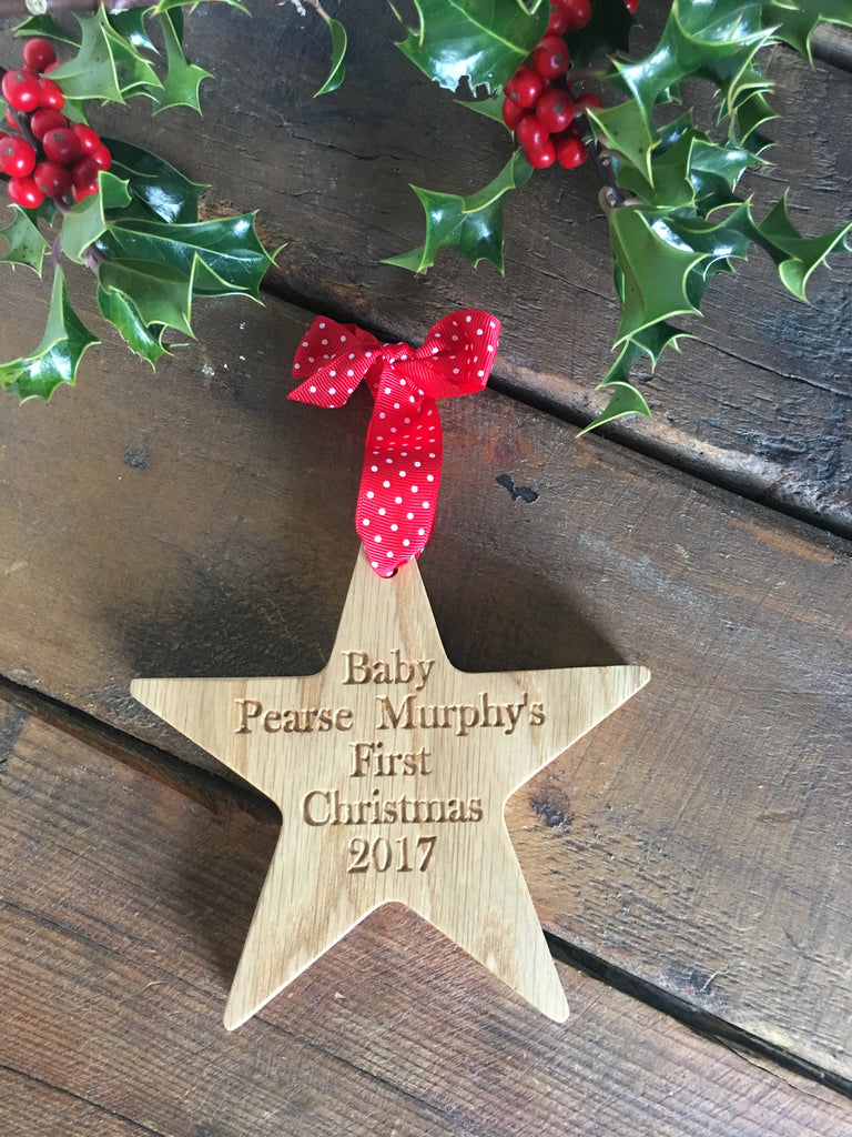 Christmas Decoration for babies and children or a little keepsake gift.