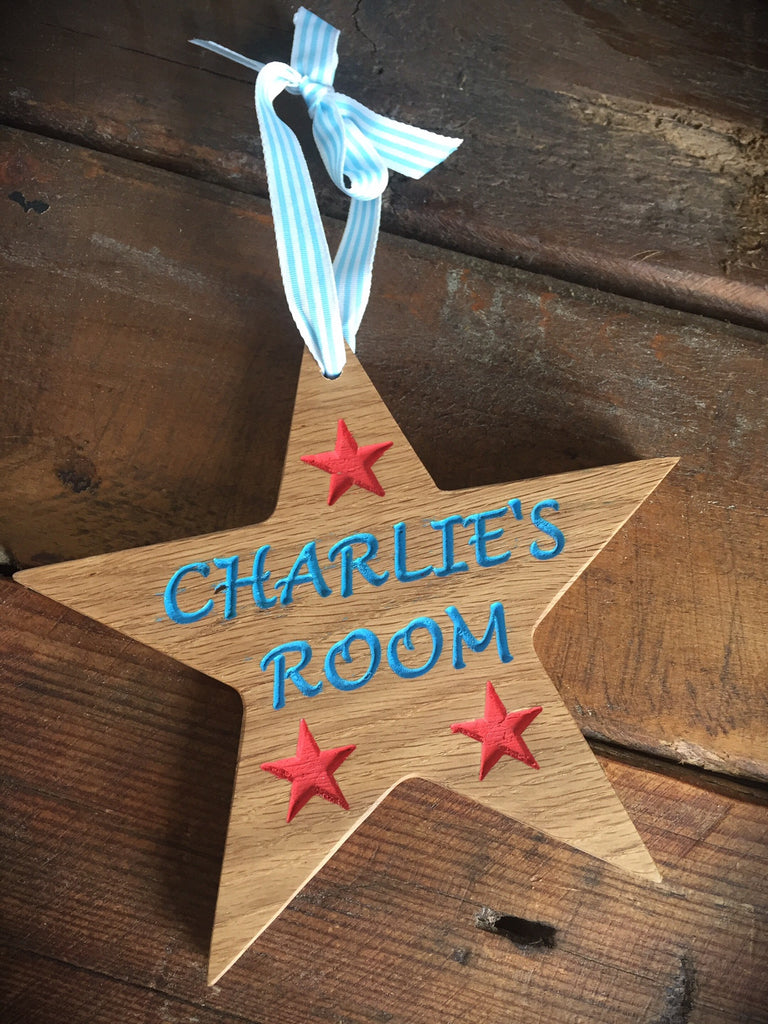 Copy of Childrens Room/ Name Signs/ Plaques- Star