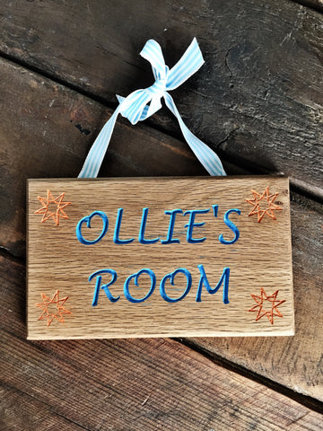 Copy of Copy of Childrens Room/ Name Signs/ Plaques- Rectangle