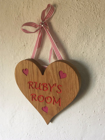 Childrens Room/ Name Signs/ Plaques- Heart