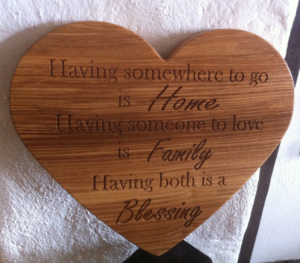 Heart Shaped Personalised Wall Plaque