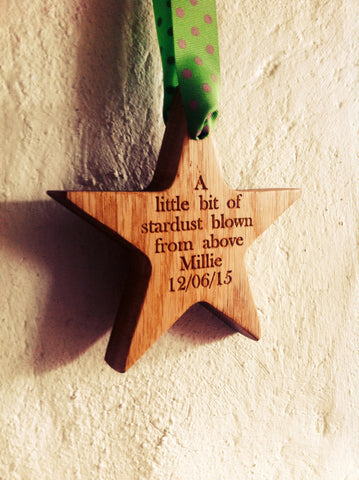 Oak Star Hanging Decoration for New Baby
