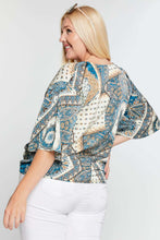 Load image into Gallery viewer, Anne Paisley Print Tie Waist Top