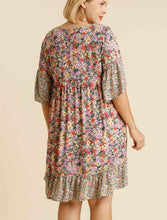 Load image into Gallery viewer, Danielle Floral Print Ruffle Hem Dress