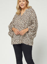 Load image into Gallery viewer, Jolie Leopard Print V-Neck Top
