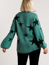 Load image into Gallery viewer, Selma Star Pattern Puff Sleeve Sweater