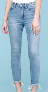 Brandi Light Wash Shark Bite Skinny Jeans