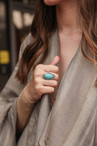 Oblong Turquoise Ring