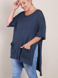 Ellie Mae Hi Low Oversized Knit Top