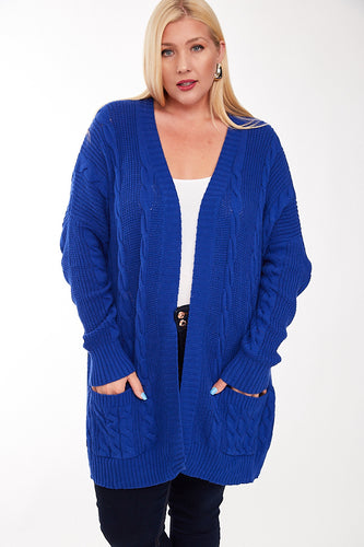 UK Blue Chunky Knit Cardigan