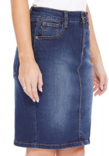 Mason Back Slit Denim Pencil Skirt