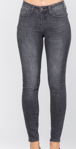 Janie High Rise Grey Skinny Jeans