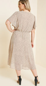 Valdie Dotted Midi Swing Dress
