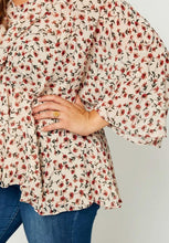 Load image into Gallery viewer, Marissa Floral Peplum Top