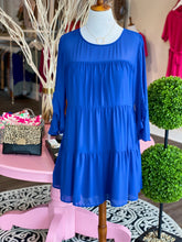 Load image into Gallery viewer, Erin UK Blue Tiered Dress