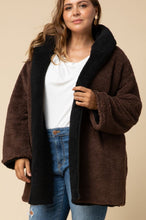 Load image into Gallery viewer, Devin Reversible Sherpa Hooded Jacket