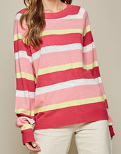 Load image into Gallery viewer, Meredith Multi-Colored Striped Sweater