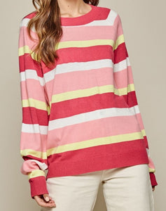 Meredith Multi-Colored Striped Sweater