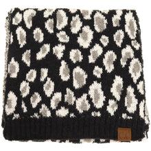 Load image into Gallery viewer, Leopard Boucle Knit CC Scarf