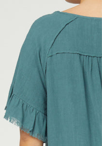 Annalise Frayed Detail Top