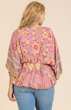 Load image into Gallery viewer, Julia Floral Peplum Top