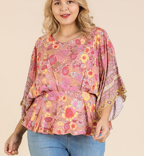 Julia Floral Peplum Top