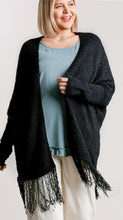 Load image into Gallery viewer, Madison Cardigan Sweater with Fringe Hem (2 colors)