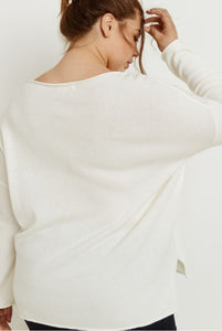 Doris Hello Beautiful Lightweight Sweater in White