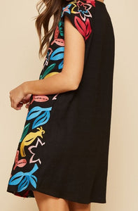 Maddie Multi Colored Embroidered Dress
