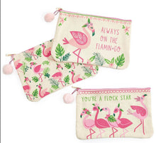 Load image into Gallery viewer, Flamingo Multipurpose Zippered Bag - 3 Designs