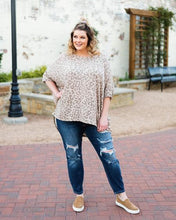 Load image into Gallery viewer, Morgan Leopard Print Dolman Sleeve Knit Top