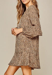 Adeline Leopard Print Shift Dress