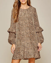 Load image into Gallery viewer, Adeline Leopard Print Shift Dress