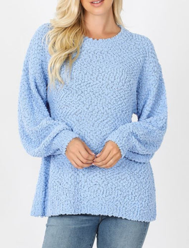 Kacey Balloon Sleeve Popcorn Sweater