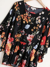 Load image into Gallery viewer, Maddy Floral Kimono Sleeve Peplum Top
