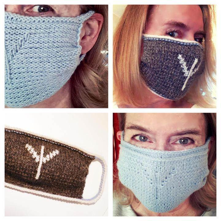 Algiz face mask Cover - Nordic Yarn