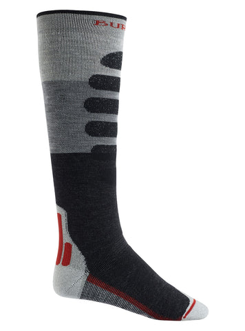 Burton Men's Performance Midweight Sock- Grey Heather 2021