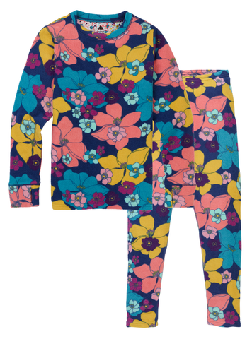 Kids' Burton Fleece Base Layer Set Flowers!