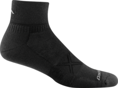 Darn Tough 1768 M 1/4 Vertex Black Sock
