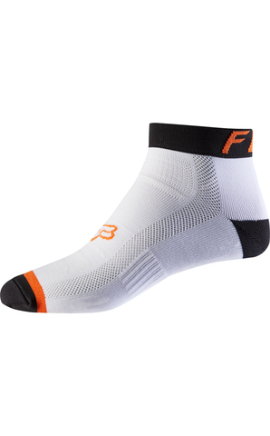 "Fox 4"" Sock White / Orange"