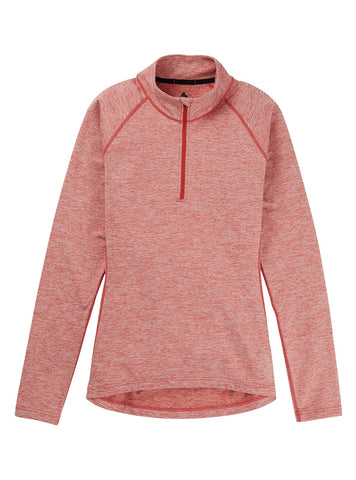 Burton Women's Heavyweight X 1/4 Zip - Cranberry 2021