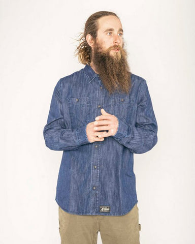 Armada Baker Tech Flannel Shirt Denim