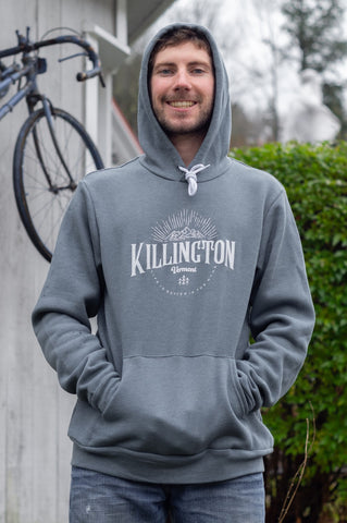 Killington Mountains Hooded Sweatshirt Slate