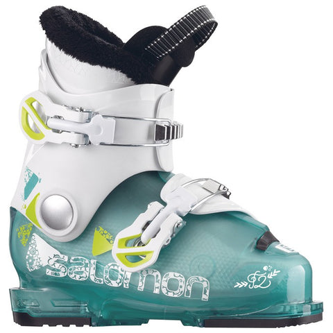 Salomon T2 RT Girly Ski Boots Light Grn/White 2018